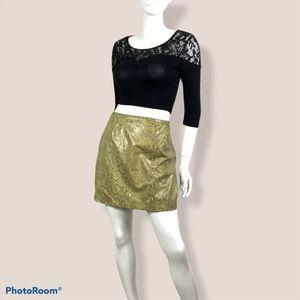 Vintage snake print mini skirt XL